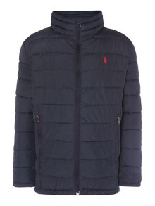 Boys Puffer Jacket With Small Pony Player