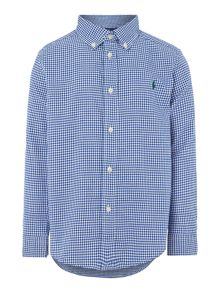 Boy Long Sleeve Gingham Shirt