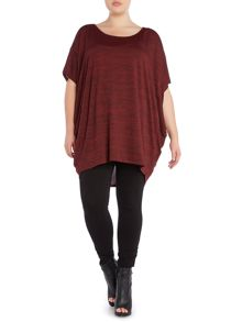 Plus size os jersey cocoon top