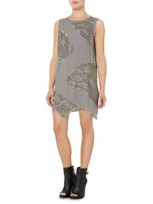 Label Lab Scalloped edge heavily beaded dress