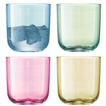 Polka Tumbler 420ml Pastel Assorted x 4