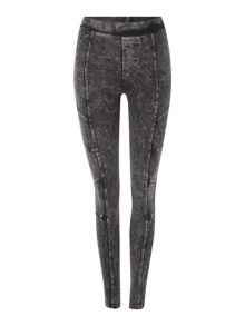 Label Lab Acid wash biker leggings