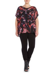 Label Lab Plus size confetti print blouse