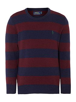 Boys Long Sleeve Crew Neck Jumper