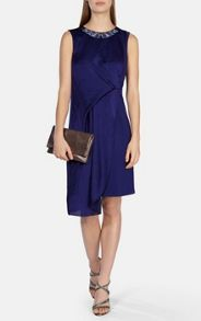 Karen Millen Draped dress with jewelled neckline