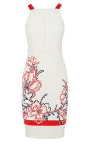 Floral ribbon embroidery dress