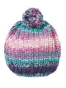 name it Girls Multi Coloured Bobble Hat