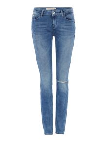 Mid rise skinny jean in blue haze stretch