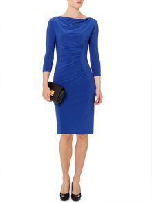 Linea Moon ruch jersey dress