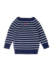 Joules Boys Fox Intarsia Striped Jumper