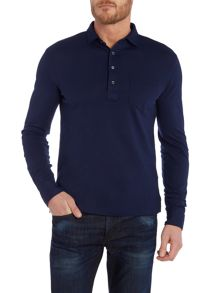 Slim Fit Light Weight Mesh Long Sleeve Polo