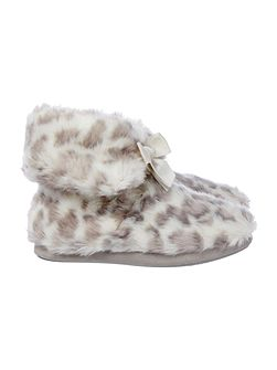 Leopard Print Slipper Boot