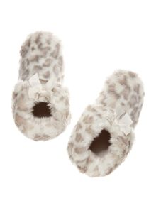 Therapy Leopard Print Slipper Boot