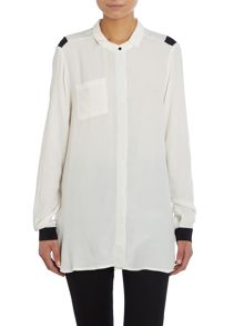 Longline button up shirt