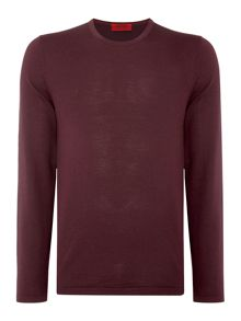 Hugo Sidalio Plain Crew Neck Pull Over Jumpers