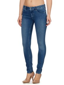Mid rise skinny jean in mid eighties blue