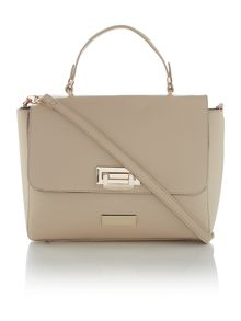 Neutral patent cross body bag