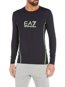 EA7 Logo Crew Neck Regular Fit T-Shirt