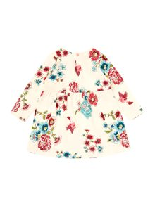 Girls Bloom Print Long Sleeved Dress