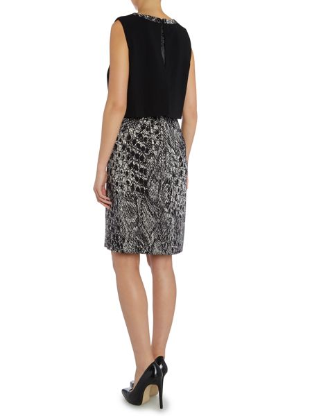 Ellen Tracy Sleeveless popover dress