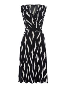 Ellen Tracy Sleeveless waisted wrap dress