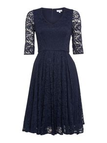 50`s style lace dress with 3/4 sleeves