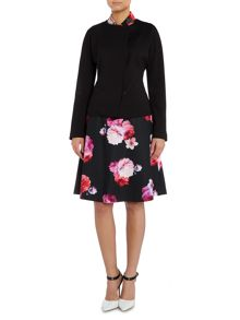 Ellen Tracy Notch neck cropped blazer