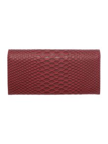 Frilly Snake burgundy large flap over purse