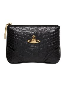 Frilly Snake black coin purse
