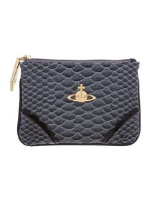 Frilly Snake grey coin purse