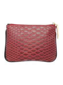 Frilly Snake burgundy coin purse
