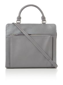 Clerkenwell medium grey cross body tote bag