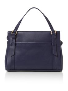 Chelsea small navy tote cross body bag