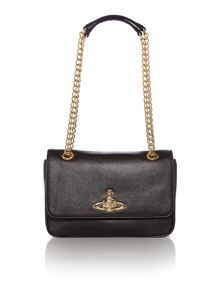 Divina black chain shoulder bag