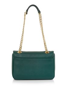 Divina green chain shoulder bag