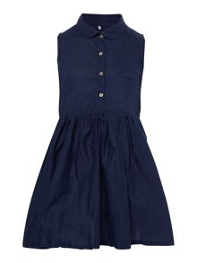 name it Girls Sleeveless Shirt Dress