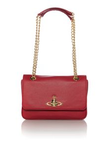 Divina red chain shoulder bag