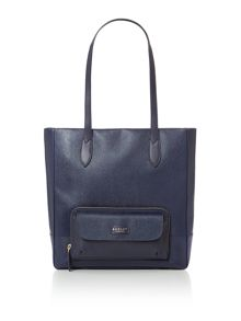 Columbia road large navy tote bag