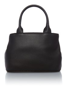 Bow small black grab tote bag