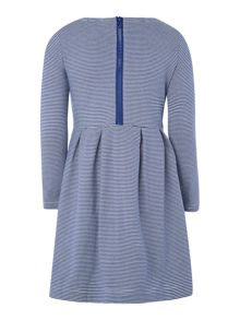 Joules Girls Striped Jersey Dress With Corsage