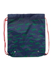 Boys Crocodile Print Drawstring Bag