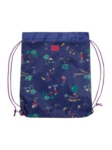 Girls Blustery Days Drawstring Bag