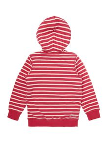 Girls Striped Sherpa Fleece Lined Hoody