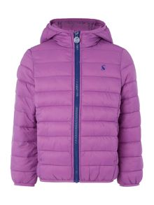 Girls Hooded Padded Pack Away Jacket With Bag