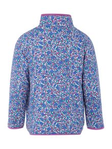 Girls Ditsy Print Half Zip Funnel Neck Fleece