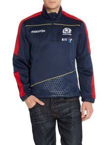 Scottish Rugby Plain Zip Collar Pull Over Overhead