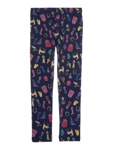 Girls Pony Printed Leggings