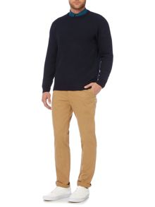 Criminal Ritchie Textured Crew Neck Jumper
