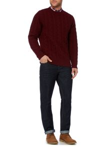 Criminal Rufus Cable Knit Jumper