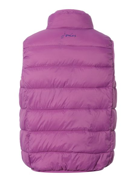 Joules Girls Padded Pack Away Gilet With Bag